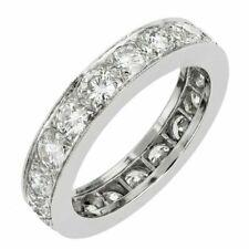 14k White Gold Over Round Cut D/vvs1 Diamond Wedding Band Engagement