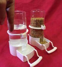 Alimentador del Pájaro x 2 bebedor de agua semilla Clipper fuente Jumbo Budgie cacatúa Finch