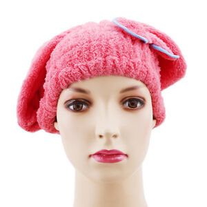 Quick Dry Microfibre Shower Hair Cap Bath Towel Drying Turban SPA Wrap Hat LS
