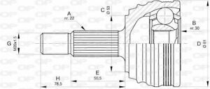 TêTE DE CARDAN VW GOLF III 1.4,CADDY II CAMIONNETTE/MONOSPACE 1.9 SDI,1.9 D