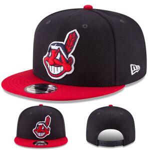 Kinder New Era Cleveland Indians Jugend Snapback Hut Verstellbar 2Tone Basic Cap