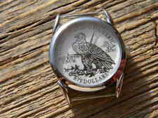 mens watch face with silver plated pattern 2 1/2 $ eagle USA