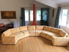 Mid Century Modern Semi Circle Octagon Sectional Sofa Baughman Era by Bernhardt