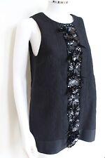 MSGM Black Embellished Tunic Top or Mini Dress 40 uk 8