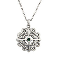 Celtic Knot Knotwork Flower Necklace Pendant.Beautiful Knot-work Designs Jewelry