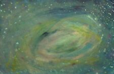 Original Acrylic Canvas Board Painting Deep Outer Space Milky Way Stars Galaxy