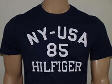 Tommy Hilfiger Stencil Logo Crew T Shirt Masters Navy NWT
