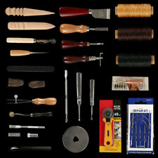 25Pc Vintage Leather Craft Stitching Sewing Beveler Punch Working Hand DIY Tools