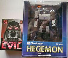 Transfomers Megatron Toyworld TW-01 Hegemon 1st ver w/ King of Evil add on kit