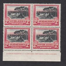 South Africa 1927/30 2d SG35 block 4 marginal imprint UM MNH ** never hinged