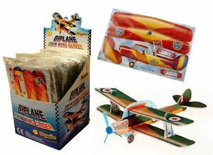 FLYING BI PLANE TIGER MOTH GLIDER SET OF ALL 3 PLANES PARTY BAG POCKET MONEY