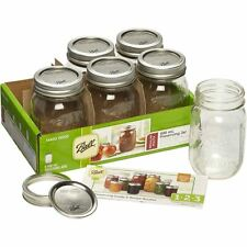 Ball Regular Mouth Mason Jars 490ml 6 Pack Preserving Jam Making Gift Decoration