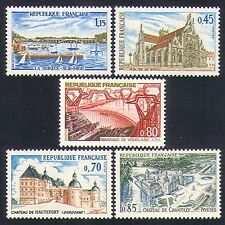 France 1969 Tourism/Buildings/Church/Sailing/Sport/Dam/Energy 5v set (n33009)