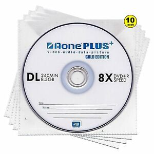 Aone Dual Layer DVD+R DL | Recordable Blank DVD Double Layer Discs In Sleeves