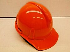 Msa Topgard Blaze Orange Hard Hat With Fas Trac Suspension H13