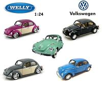 1/24 - 1/27 Welly VW Volkswagen Beetle Diecast Model Cars Different Colors 22436