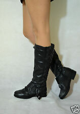 Women Black Knee High Boots Low Heel Real Leather Next RRP £85 Size 4