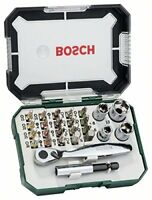 Bosch Screwdriver Bit and Ratchet Set Hand Tool Kit 26 Pieces NEW
