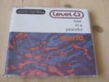 Level 42:  Love in a peaceful World (+ 3 orig versions)   CD Single     NM