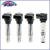 Brand New Set Of 4 Ignition Coils For Audi A3 VW Golf Polo Jetta Seat Ibiza Leon