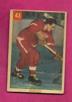 1954-55 PARKHURST # 43 WINGS MARTY PAVELICH VG CARD  (INV# A5798)