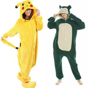 Pikachu Snorlax KIDS Children Unisex Animal Onsie88Onesie12 Anime Cosplay Pyjama