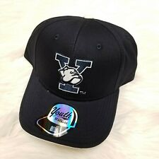New OUTER STUFF Youth Headwear NCAA Yale Embroidered Adjustable Hat, Black
