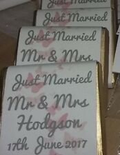 Wedding Party  Favours Chocolate Neopolitan squares personalised x 100