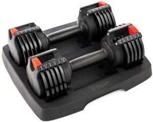 PowerUp Adjustable Weights Dumbbells Set Light 2.5 lb-15 lb Adjustable Dumbbells