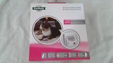 PetSafe Staywell Infra Red 4 Way Locking Deluxe Cat Flap Door - White 500EF