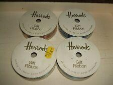 4 X VINTAGE HARRODS GIFT RIBBON REELS