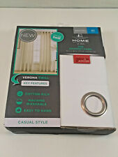 """JCPenney Home Verona Twill Casual Style Grommet Panel 50"""" x 95"""" Cool White"""