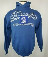 Vintage Duke University Mens Sweatshirt Hoodie Size Large Blue Devils NCAA
