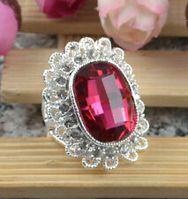 Jewelry Fashion 925 silver Ruby zircon wedding rings size7 A92-7