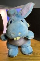 Vintage Disney Hasbro 1980s Wuzzles Hoppapotamus Plush Hippo Soft Cuddly Toy