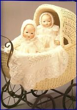Gorgeous Doll LAYETTE for 2 Baby Dolls copy 36 cms  knitted in 3 ply