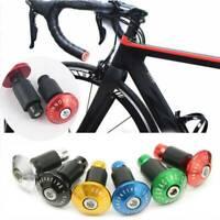 2Pcs/set Aluminum MTB Road Bike Cycling Handlebar Grips Bar End Plugs Cap Tools
