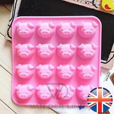 *UK Seller* Silicone 16 Cute Pig Oink Cake Chocolate Ice Cube Baking Mould Mold