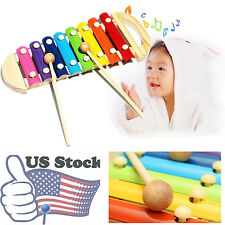 Musical Toys Xylophone Wisdom Development Wooden Instrument Toy for Baby Kids US