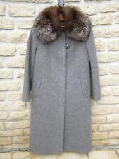 Manteau en magnifique lainage gris, long, Marque BERMANTO T42 - femme