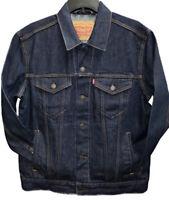 Levis Trucker Jacket Denim Men's Button Front Rinse Blue 0134