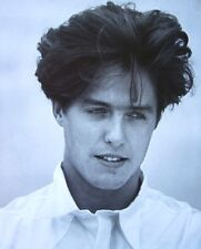 ROWING WITH THE WIND clipping Hugh Grant as Lord Byron goth hair B&W photo 1988