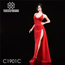 WOOM TOYS 1/6 Scale Red Female Evening Dress Skirt Fit 12'' Girl Body