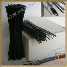 "500 Plastic 5"" Twist Tie Cello Bags - Black Oval"