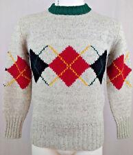 Men's Ralph Lauren Polo Vintage Wool Sweater Made In Hong Kong Size M EUC