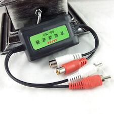 Nuevo 3.5 mm Coche Amplificador Audio RCA ruido filtro supresor de aislador de bucle de tierra