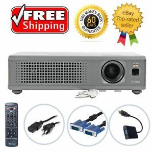 ViewSonic PJ400 3LCD Projector Portable HD 1080i HDMI-adapter bundle