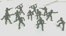 Vintage Army Plastic Toy Soldiers 2 3/4 inch. Lot of 12 No base. 1960s - 1970s