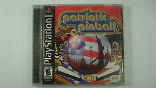 Patriotic Pinball (Sony PlayStation 1, 2003) Vtg PS1