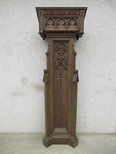Antique Victorian Gothic Tiger Oak Carved Church Podium Lectern